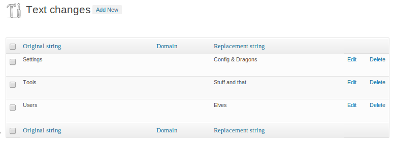 The say what page - setting up our string replacements